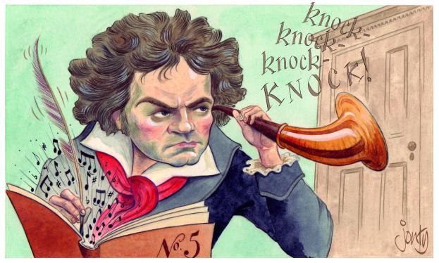 Caricatura de Beethoven